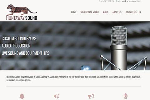 huntaway sound website