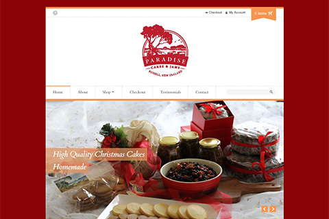 paradise cakes website